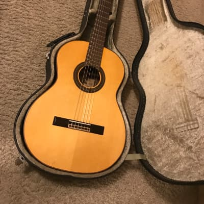 Aria A-50 handcrafted Classical Concert Guitar 1970s in excellent condition with hard case for sale
