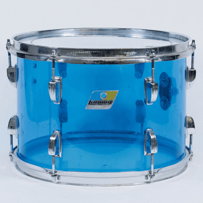 """1970s Ludwig Vistalite 9x13"""" Mounted Tom with Single-Color Finish"""