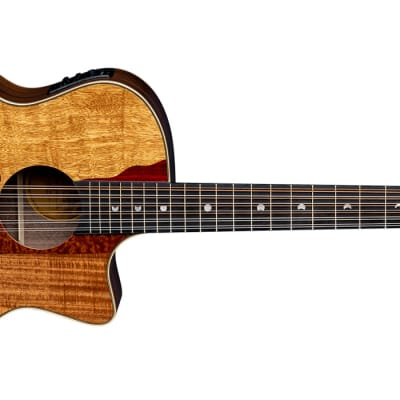 Luna Vista Eagle 12-String with Electronics Natural - 3 FREE Sets of Strings / Cable - Free Ship