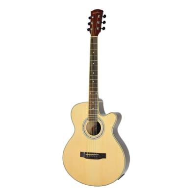 Lorden Acoustic Small Body Cutaway Guitar (Natural Gloss) for sale