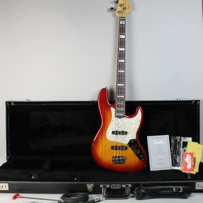 2008 Fender Custom Shop Classic Jazz Bass Sienna Burst Electric Guitar w/OHSC for sale