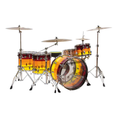 """Ludwig Limited Edition Vistalite Reissue Tequila Sunrise Pro Beat Outfit 9x13 / 16x16 / 16x18 / 14x24"""" Drum Set"""