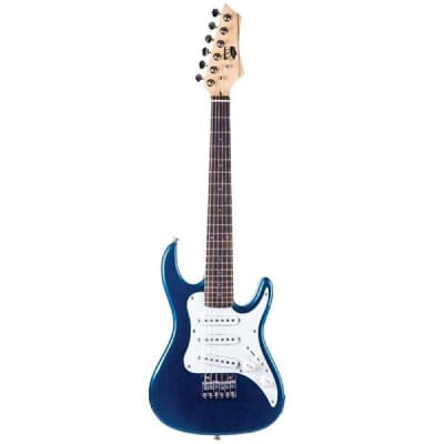 AXL AS-750-1/2 Headliner SRO Double Cutaway 1/2 Size Electric Guitar Blue for sale