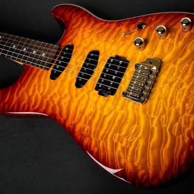 New Chris Campbell Guitars Custom Shop Modern Caldera Burst Presentation Quilt for sale