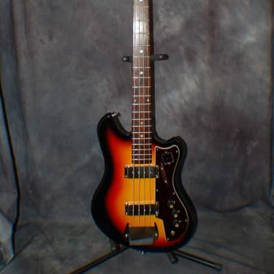 Video Demo 1966 Conrad Model 1246 Full Scale Bass Guitar New Strings Original Soft Shell Case for sale