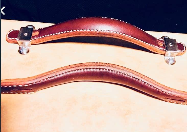R Brown Vintage Style Guitar AMP Amplifier Leather Handle TOOGOO