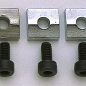 Allparts Nut Blocks with Screws, Chrome, Set of 3 for sale