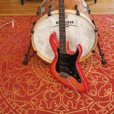 Dean Hollywood Bel Air Red Finish Guitar Vintage 1983 for sale