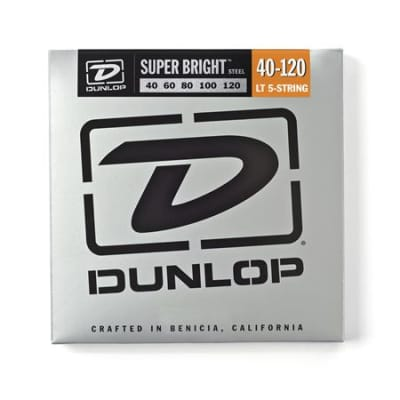 Dunlop DBSBS Super Bright Steel 5 String Bass Strings 40-120