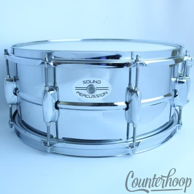 """Sound Percussion 14x6.5""""Snare Drum 10Lug Steel Shell Triple Flange Rims+New Head"""