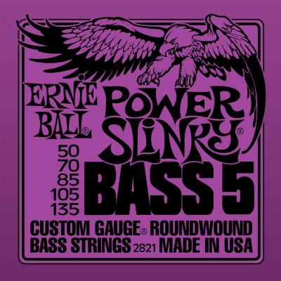 Ernie Ball P02821 Power Slinky 5-String Electric Bass Strings