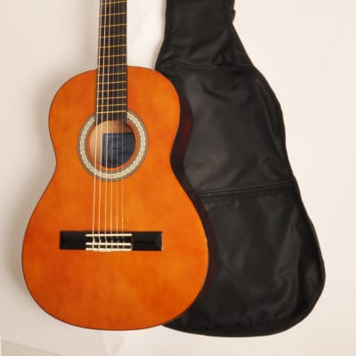 Beginner Classical Acoustic Guitar 3/4 Size (36 Inch) w/Carry Bag Omega Class Kit 3/4 NA for sale