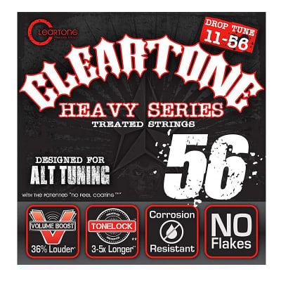 Cleartone Heavy Series Treated Strings - 11-56