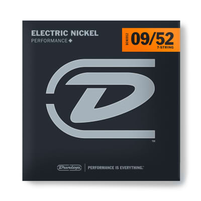 Dunlop DEN0952 Nickel Electric Guitar Strings - Extra Light- 7 String 09/52
