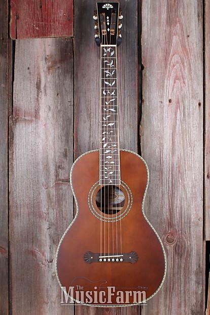 Washburn R320swrk Parlor Vintage All Solid Wood Acoustic Reverb