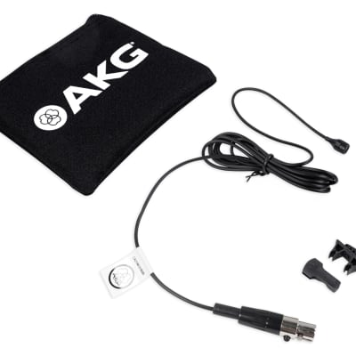 AKG C417 L Clip on Lavalier Microphone + Windscreen For Church Speeches/Sermons