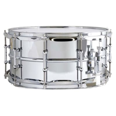 """Ludwig LM402T Supraphonic 6.5x14"""" Aluminum Snare Drum with Tube Lugs"""