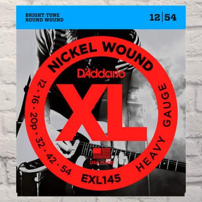 D'Addario EXL145 Heavy Nickel Wound Electric Guitar Strings 12-54