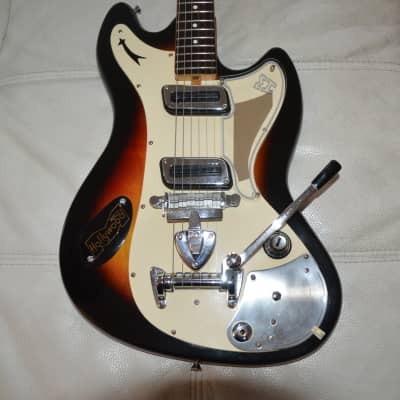 superb and very rare solid body style jaguar mid 60 'in good condition for its age +gigbag Gibson for sale