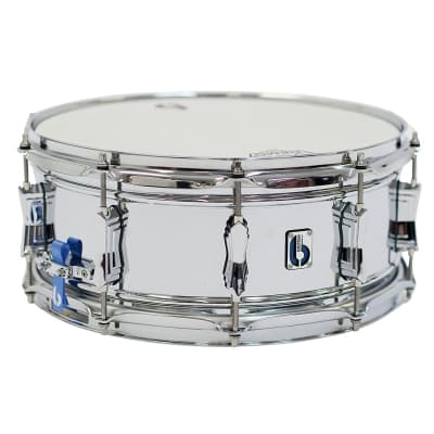 "British Drum Company Bluebird 14x6"" 10-Lug Brass Snare Drum"