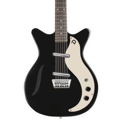 Danelectro '59 Vintage 12-String Semi Hollow Electric Guitar in Black