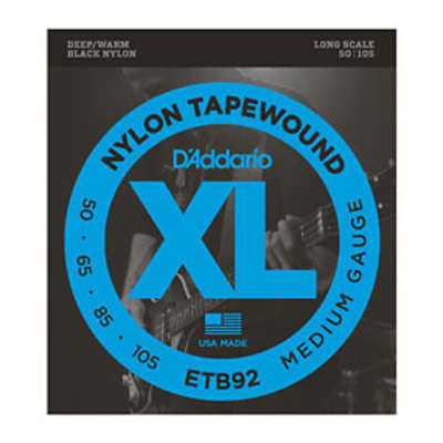 D'Addario ETB92 Nylon Tape Wound Bass Strings