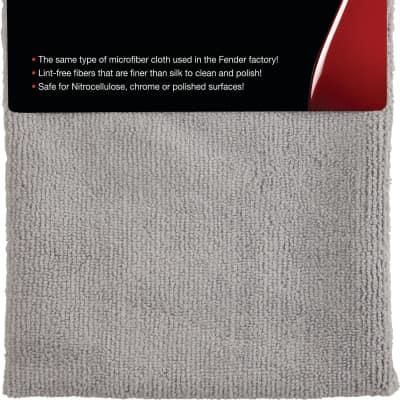 Fender Factory Microfiber Cloth, Gray 2016