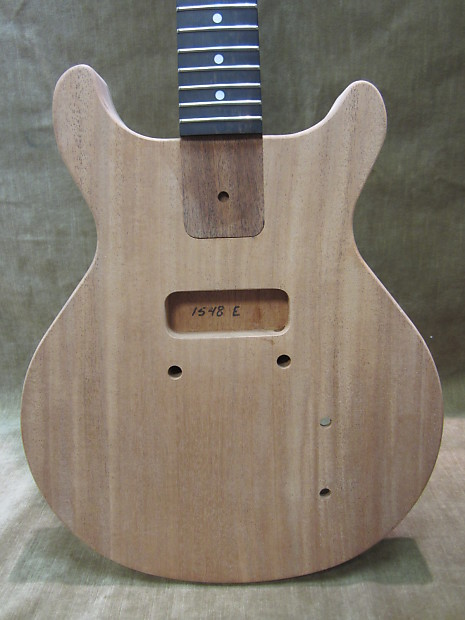 gibson style les paul jr double cut natural mahogany project reverb. Black Bedroom Furniture Sets. Home Design Ideas