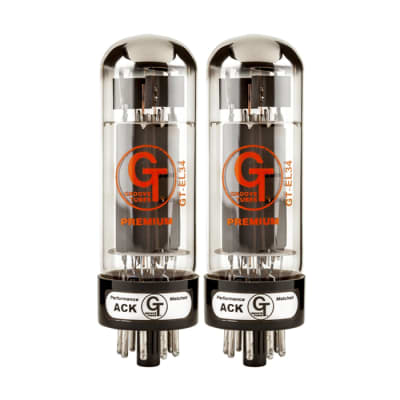 Groove Tubes GT-EL34-RD-M Gold Series Amplifier Tube Pair for sale