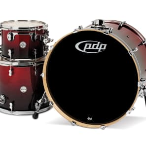"""PDP PDCM2413RB Concept Maple Series 9x12"""" / 14x16"""" / 18x24"""" 3pc Shell Pack"""