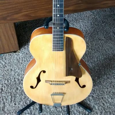 Vintage Refretted 1960s Archtop Silvertone Natural for sale