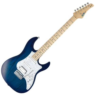 FGN Odyssey EOS-ASH-M See-Thru Blue Burst Incl OHSC *Worldwide FAST S/H for sale