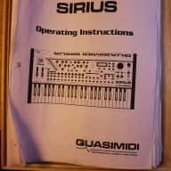 Quasimidi Sirius Paper manual (photocopy)