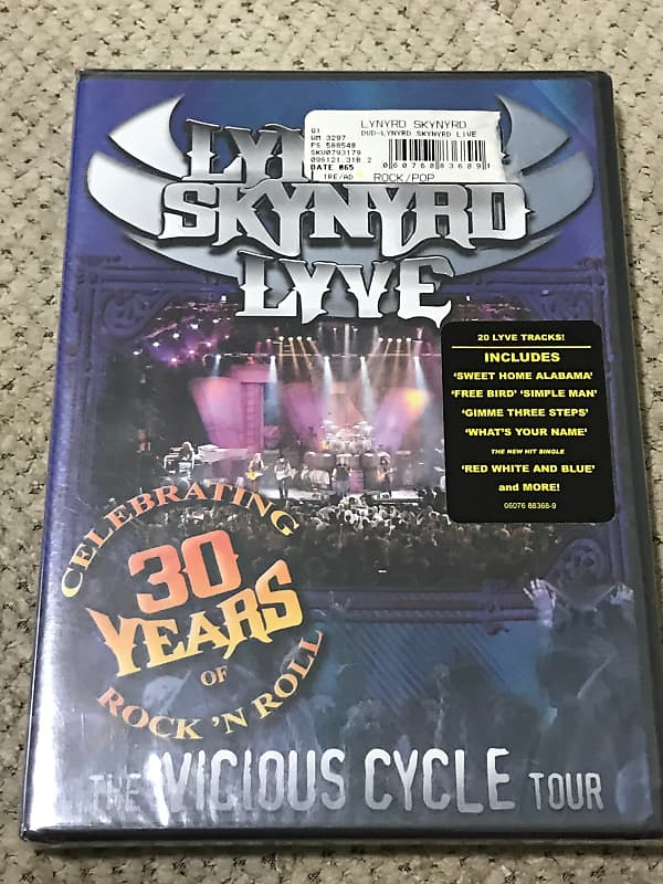 lynyrd skynyrd lyve the vicious cycle tour dvd pedals r us reverb. Black Bedroom Furniture Sets. Home Design Ideas