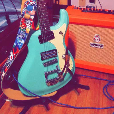 Danelectro The 64 w/ Bigsby Dark Aqua