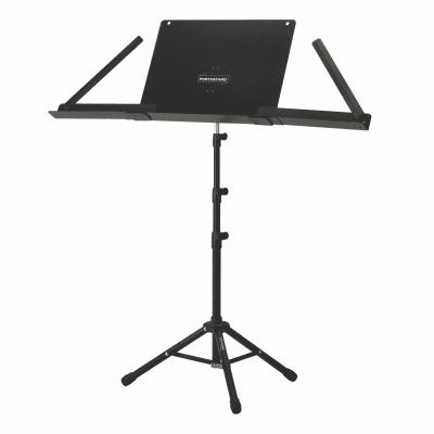 PortAStand Universal Music Stand Shelf Extensions (Pair) 2020 Black