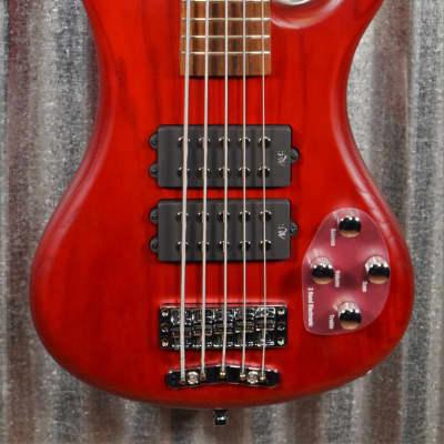 Warwick Rockbass Corvette $$ Double Buck Burgundy 5 String Bass & Bag #0418
