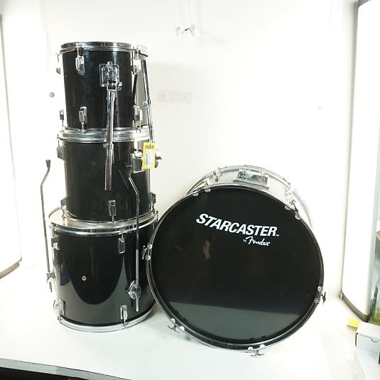 Fender Starcaster 4 Pc Drum Kit 4 Piece Kit Black Reverb