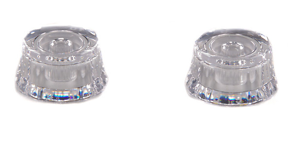 PRS Clear Black Lampshade Knobs Set of 2