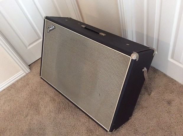 RARE Fender Showman 1x15 Guitar Speaker Cabinet (1960s) Black | Reverb