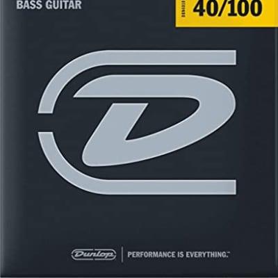 Dunlop DBS40100 Stainless Steel Bass Strings, Light, .040–.100, 4 Strings/Set