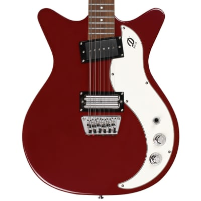 Danelectro '59X 12 STRING Double Cutaway Electric Guitar | Red with Cream Pickguard