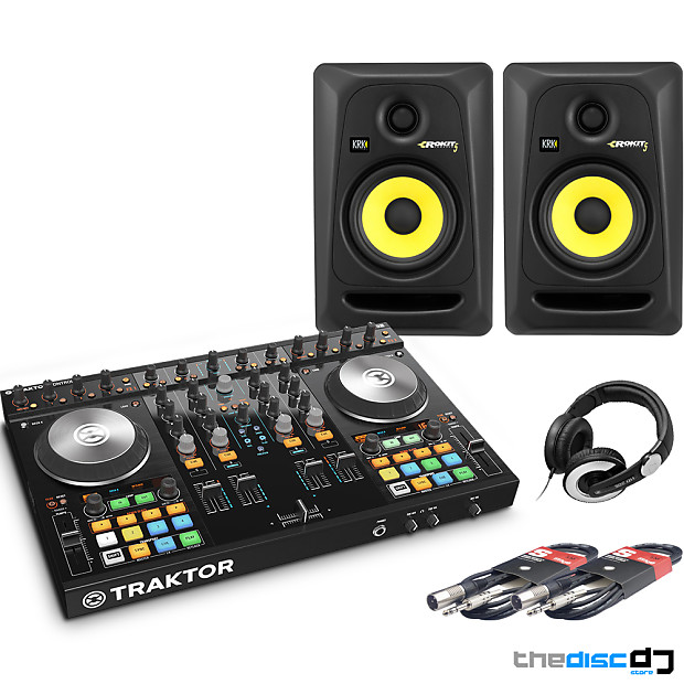 NI Traktor Kontrol S2, KRK RP5 G3 Speakers + HD205 Headphones DJ Package  Deal