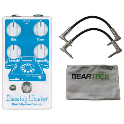 EarthQuaker Devices Dispatch Master Delay & Reverb V3 w/ Polish Cloth and 2 Cables