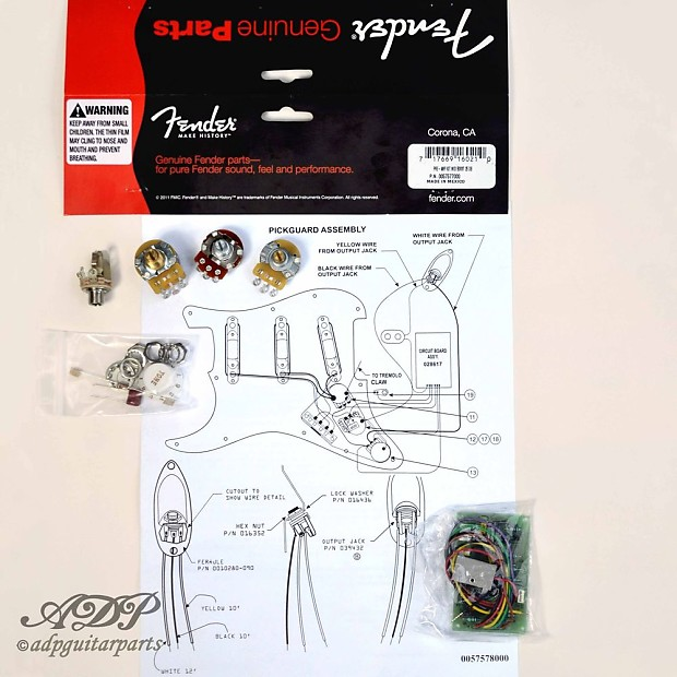 Fender Mid Bost Kit 25db Eric Clapton Tbx Control Pot