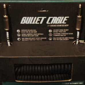 """Bullet Cable BC-30CC 1/4"""" TS Straight Coiled Instrumment/Guitar Cable - 30'"""