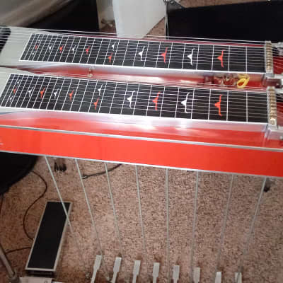 Fessenden D10 pedal steel guitar 1980s Holly Red for sale