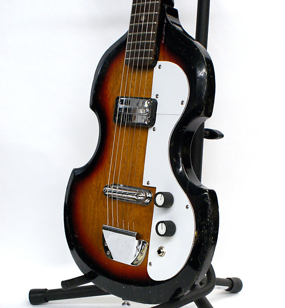 vintage sekova violin style electric guitar from the sixties reverb. Black Bedroom Furniture Sets. Home Design Ideas