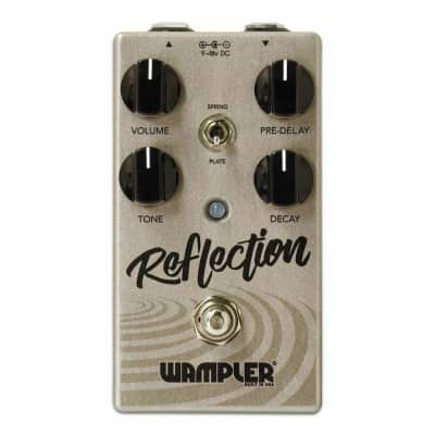 Wampler Reflection Spring / Plate Reverb Guitar FX Pedal Return Unit- 2 Day Delivery