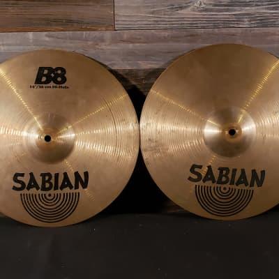Used Sabian B8 Hi Hat Cymbals 14